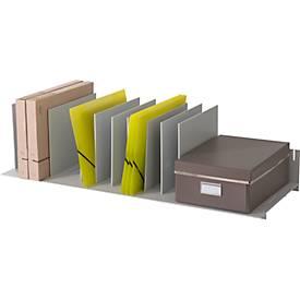 Sortierstation, Polystyrol, flexible Aufteilung, grau
