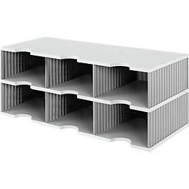 Sortierstation styrodoc® Jumbo, Grundeinheit, 2 Etagen/3-reihig/6 Fächer