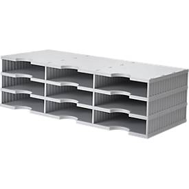 Sortierstation styrodoc® Standard, Grundeinheit, 3 Etagen/3-reihig/9 Fächer