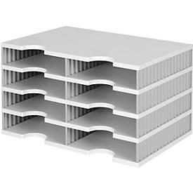 Sortierstation styrodoc® Standard, Grundeinheit, 4 Etagen/2-reihig/8 Fächer