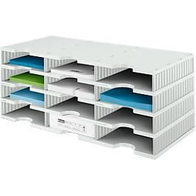 Sortierstation styrodoc® Standard, Grundeinheit, 4 Etagen/3-reihig/12 Fächer
