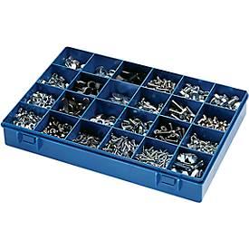 Sortimentskasten Deckel klar Modell 24 Unterteil blau