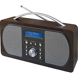 Soundmaster DAB+/UKW-Digitalradio DAB 600, 2 Lautsprecher, 20 Festsenderspeicher, dunkelbraun