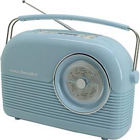 Soundmaster DAB+/UKW-Retro-Radio, Kopfhöreransc...