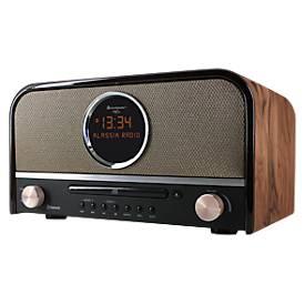 Soundmaster Nostalgie-Stereo-Musikcenter, DAB+-Radio, CD-Player, Bluetooth