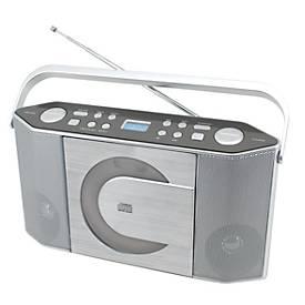 Soundmaster Stereo-Kofferradio RCD 1750, silber, CD-/MP3-Player, Festsenderspeicher