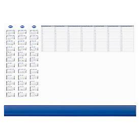 Sous-mains en papier, avec calendrier,  avec rabat plastique de protection, 50 feuilles