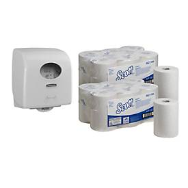 Spaarset Kimberly Clark handdoekpapierrol Scott Control Slim + dispenser
