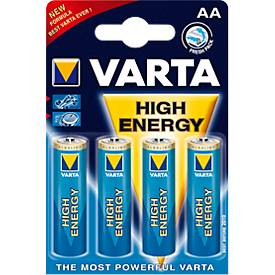 Sparpacks Batterien VARTA HIGH ENERGY, AA 1,5V