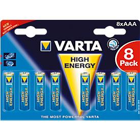 Sparpacks Batterien VARTA HIGH ENERGY, AAA 1,5V