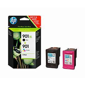 Sparpaket 2 x HP Druckpatronen Nr. 901 schwarz, color (SD519AE)