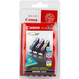 Sparpaket 3 Stück Canon Tintenpatrone CLI-521 cyan/magenta/gelb