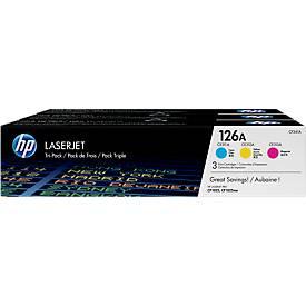 Sparpaket 3x HP LaserJet CF341A Druckkassette cyan, gelb und magenta