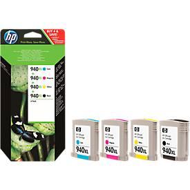Sparpaket 4 Stück HP Druckpatronen Nr. 940XL color (C2N93 AE)