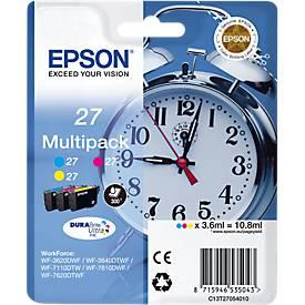 Sparpaket Epson Tintenpatronen T2705, cyan, magenta, gelb