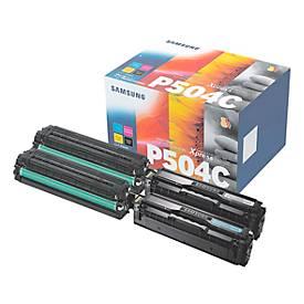 Sparpaket SAMSUNG CLT-P504C/ELS Tonerkassetten schwarz, cyan, magenta, gelb