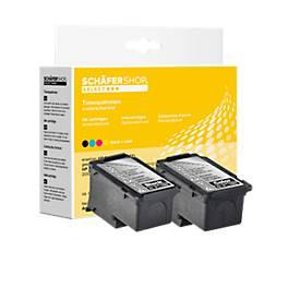 Sparset 2 Schäfer Shop Tintenpatronen, PG-545XL/CLI-546XL (Multipack)