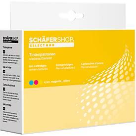 Sparset 3 St. Schäfer Shop Tintenpatronen, baugleich CLI-526 C/M/Y, 3 x color (cyan, magenta, gelb)