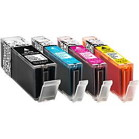 Sparset 4 Schäfer Shop Tintenpatronen, schwarz PGI-550PGBK XL, je 1 x PGI-550PG XL Serie (C/M/Y)