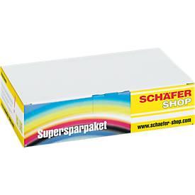 Sparset 5 Schäfer Shop Tintenpatronen, baugleich LC-970, 2 x schwarz, je 1 x cyan, magenta, gelb