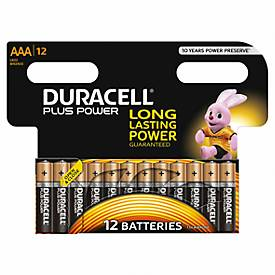 Sparset DURACELL® Batterie Plus Power, Micro AAA, 1,5 V, 12 Stück