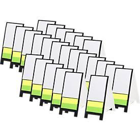 Sparset Haftnotizaufsteller Novich, 120 Stck., mit 80 Haftnotizen, inkl. Tampondruck 50 x 20 mm + Grundkosten