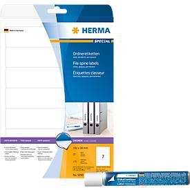 Sparset Herma Ordneretiketten, Rückenbreite 50 mm + Gratis Etikettenlöser, 15 ml