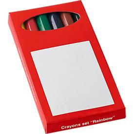 Sparset Mini-Farbstifte, 500 x 6er-Kartonschachtel, farbig sortiert, inkl. Werbedruck einfarbig + GRATIS Grundkosten