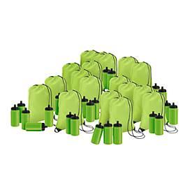 Sparset Rucksack und Trinkflasche, 100 Teile, inkl. einfarbigem Druck und Grundkosten