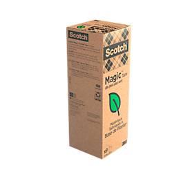 "Sparset Scotch® Klebeband ""Magic Tape: A Greener Choice"", 9 Rollen, L 33 m x B 19 mm, Ø 26 mm"