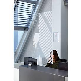 Spuckschutz zum Herabhängen, Kunststoff, glasklar, Stärke 3 mm, B 650 x H 950 mm, mit Nylon-Seilen