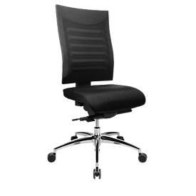 SSI PROLINE S3+ bureaustoel, synchroom mechanisme, beweeglijk zitten, zonder armleuningen, zwart/zwart