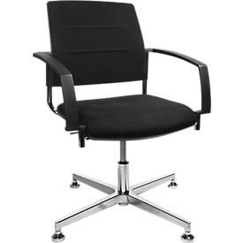 SSI PROLINE VISIT S3+ bezoekersstoel, met armleuningen, zwart