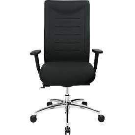 SSI PROLINE XXL bureaustoel, met armleuningen, voor personen met een lichaamsgewicht tot 150 kg, zwart