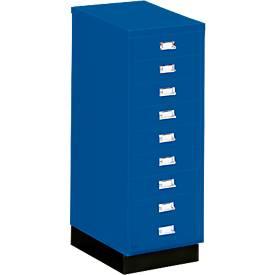SSI Schubladenschrank DIN A3, 9 Schübe, 940 mm hoch, enzianblau