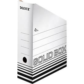 Staanzuiger Leitz Solid 4607 100 mm, DIN A4, 10 stuks, wit, DIN A4, 10 stuks.