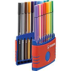 STABILO® Fasermaler Pen 68 ColorParade in Kunsstoffbox, 20 St.