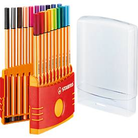 STABILO® Fineliner Point 88, in Kunststoffbox, 20 Stück