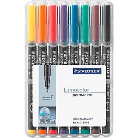 STAEDTLER Universalstift Lumocolor®, farbsortiert, 8er Set