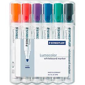 STAEDTLER Whiteboardmarker Lumocolor®, 2 mm, 6er Set