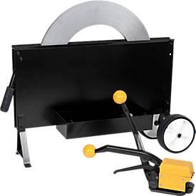 Stahlband-Umreifungs SET, hülsenlos mit Verpackungsstahlband
