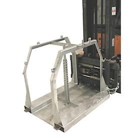 Stahlflaschenpalette SFP 8 für 8 Flaschen, Tragfähigkeit 700 kg