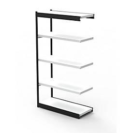 Stahlregal PROGRESS 2000, Regalfeld, ohne Rückwand, H 1900 x B 750 x T 300 mm, Rahmen schwarz