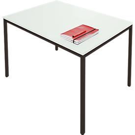 Stahlrohr-Tisch, stabiler Rahmen, B 1400 x T 700 mm