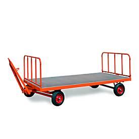 stalen buismuren voor zware industriële trailers, 750 mm hoog, 2 stuks, 2 stuks
