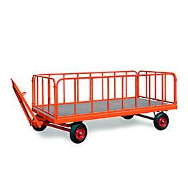 stalen buismuren voor zware industriële trailers, 750 mm hoog, 4 stuks