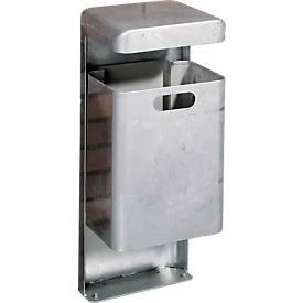 Stand-Abfallbehälter, 35 Liter, verzinkt