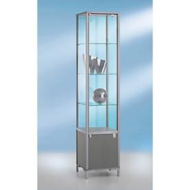 Stand-Präsentationsvitrine, H 1860 x T 400 mm, 3 Glasböden
