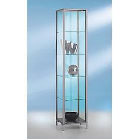 Stand-Präsentationsvitrine, H 1860 x T 400 mm, 4 Glasböden