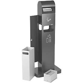 Standascher Abfall Kombination, 10 l , f. den Außenbereich, UV-resistent beschichtet